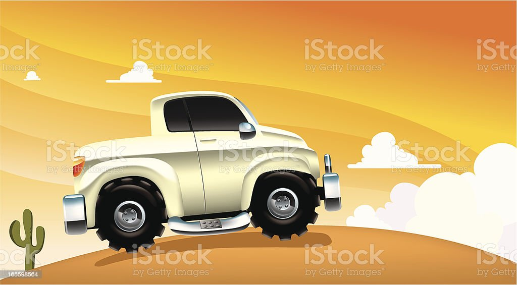truck over the hill royalty-free stock vector art