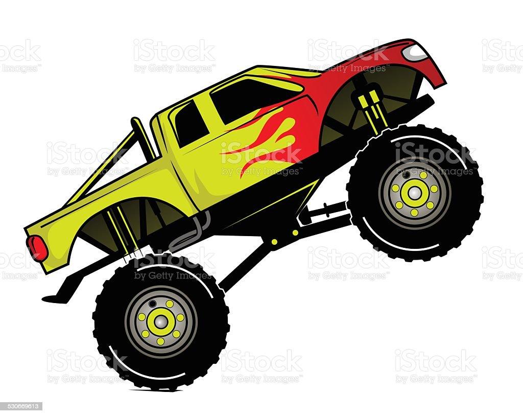 Truck Race vector art illustration