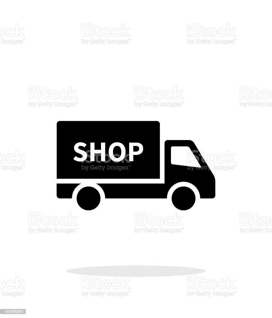 Truck shop simple icon on white background vector art illustration