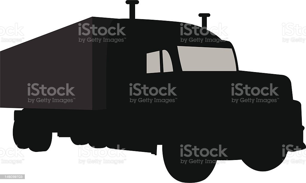 Truck silhouette royalty-free stock vector art