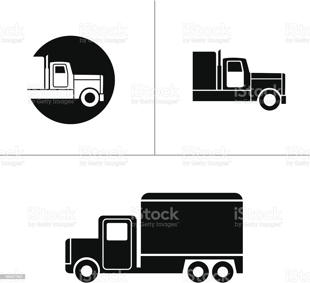 Truck Symbols - Vector royalty-free stock vector art
