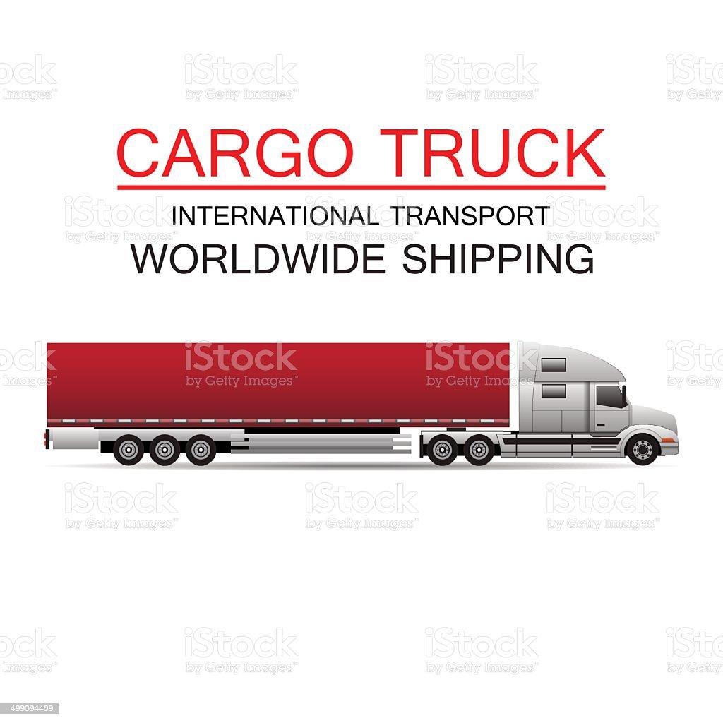 Truck transportation Logistics vector art illustration