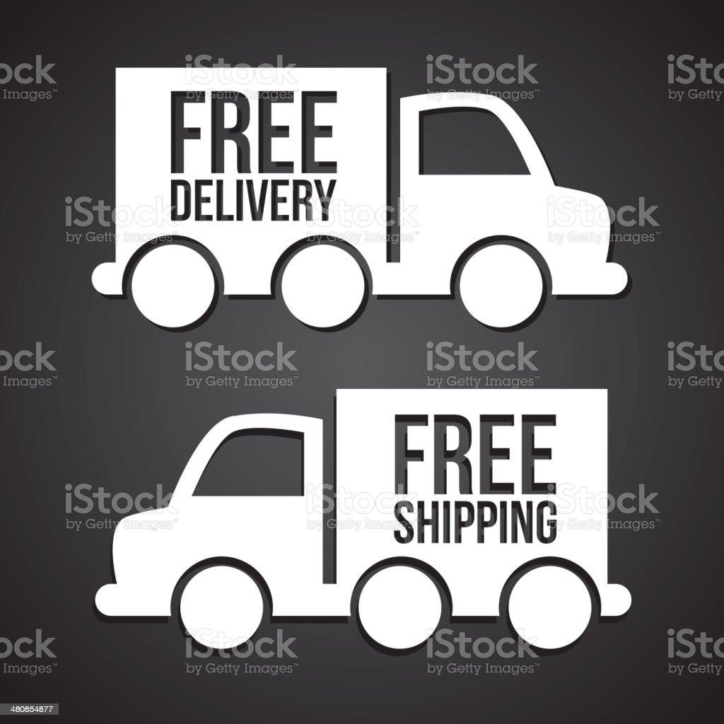 truck transports vector art illustration