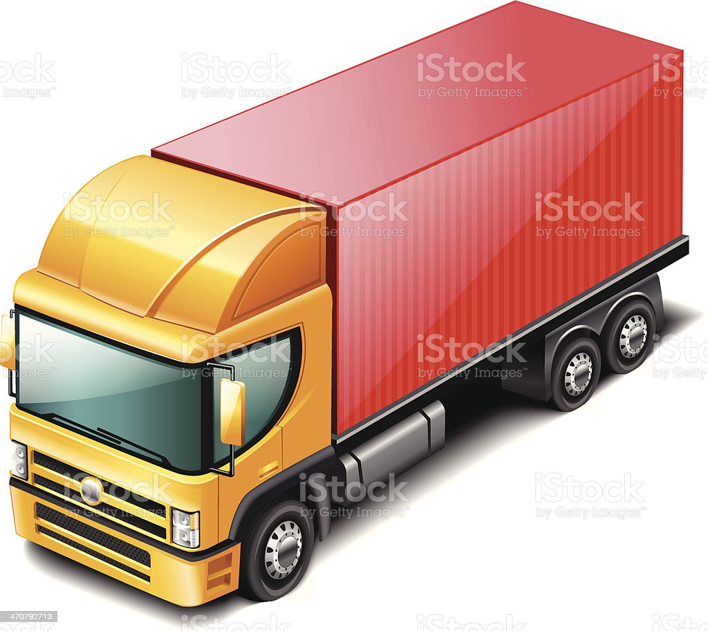 Truck vector art illustration