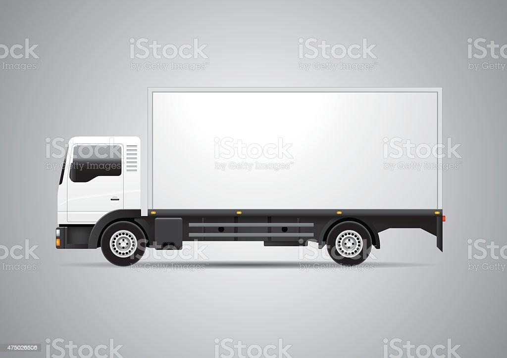 Truck - Vector vector art illustration