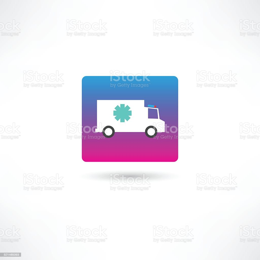truck with cold icon vector art illustration