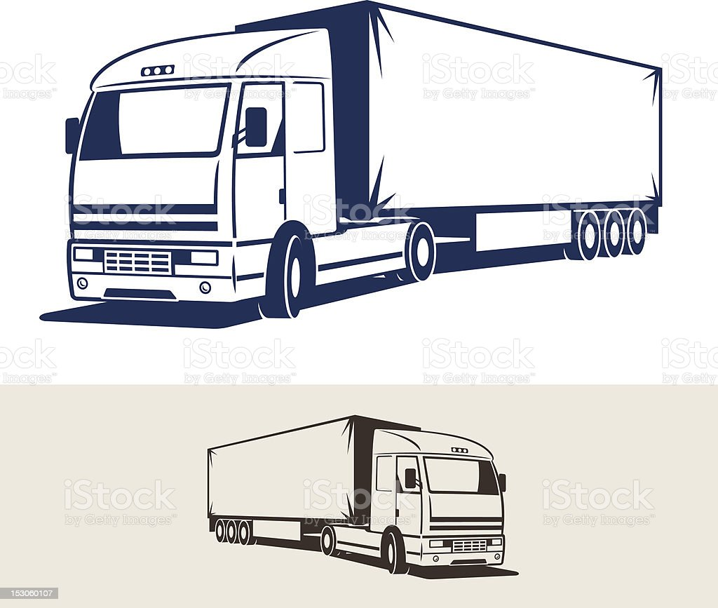 Truck with semitrailer. Vector illustration royalty-free stock vector art