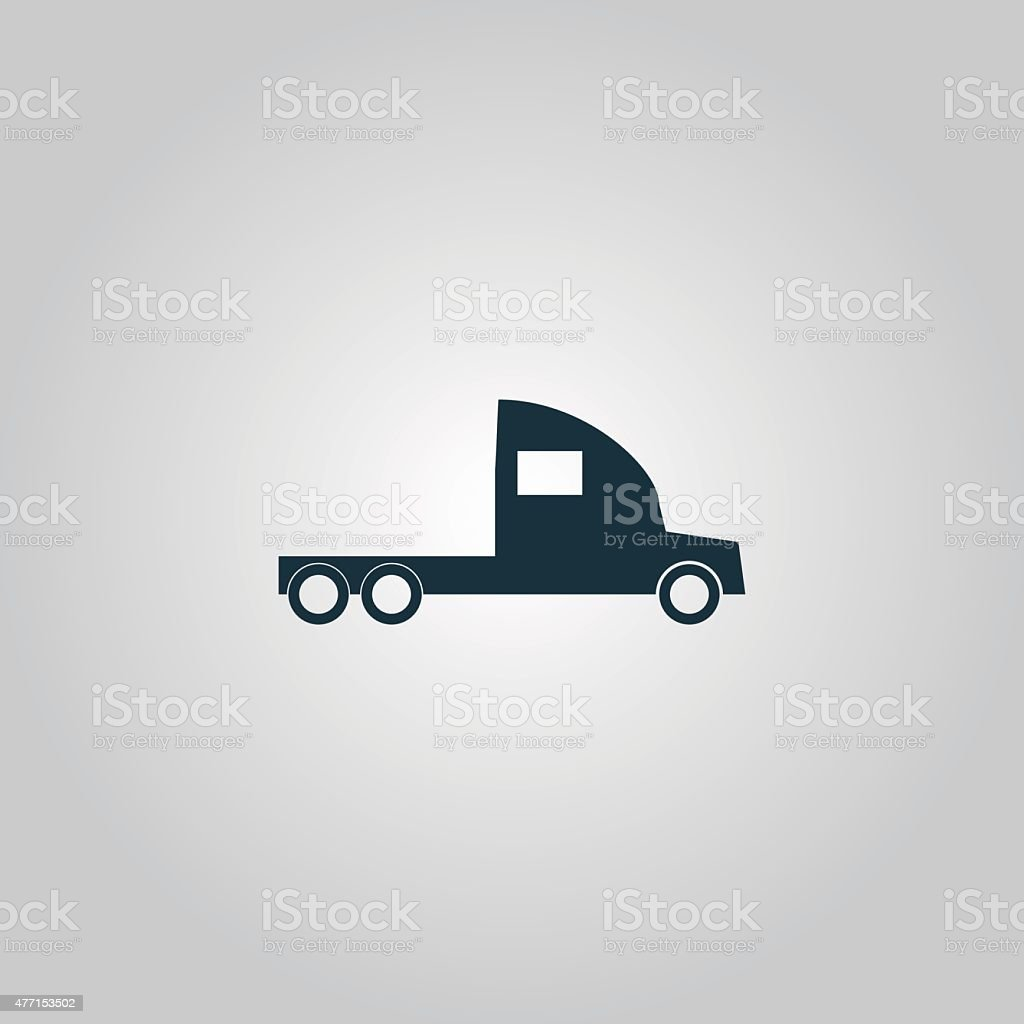 truck without a trailer vector art illustration
