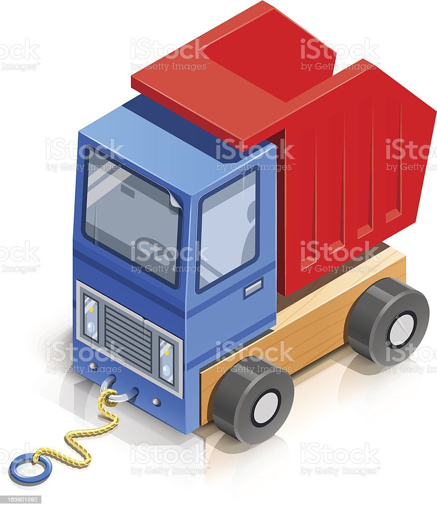 truck. wooden toy royalty-free stock vector art