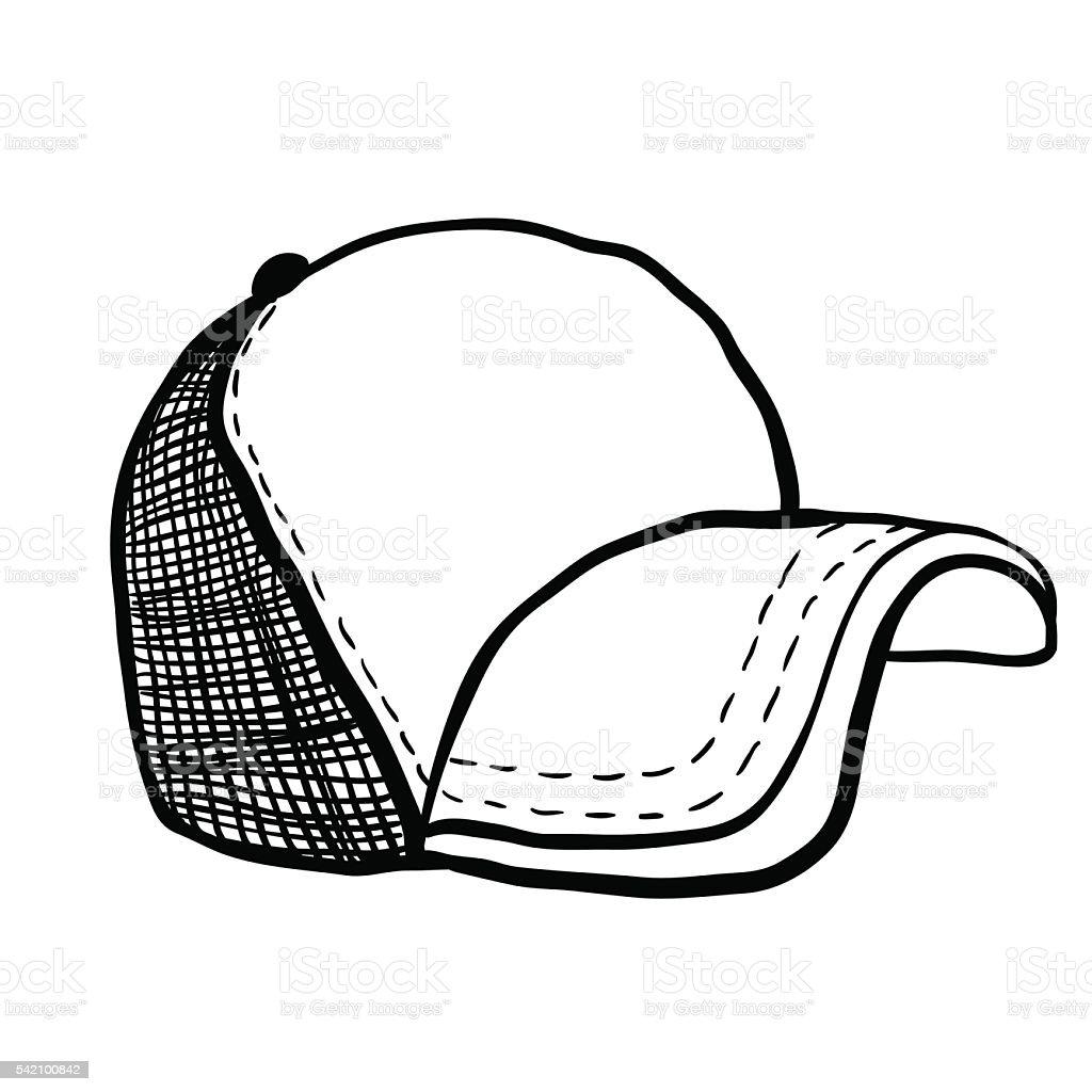 trucker cap vector art illustration