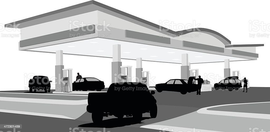 Truck'n Vector SilhouetteGas vector art illustration