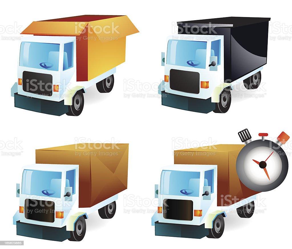 Trucks and Transportation vector art illustration