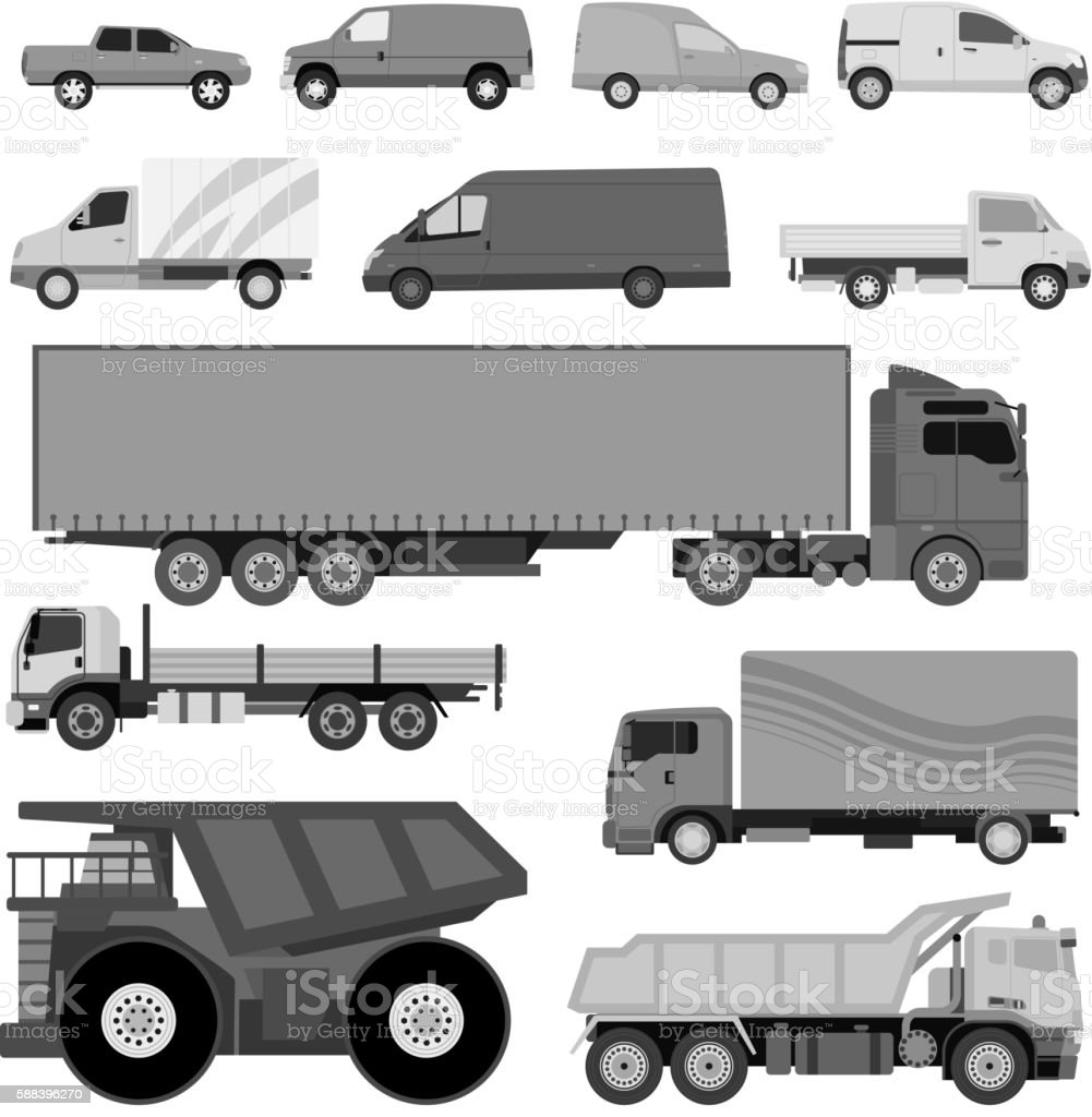 Trucks van vector illustration vector art illustration