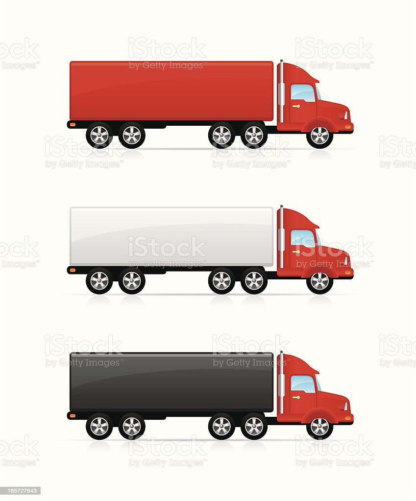 Trucks royalty-free stock vector art