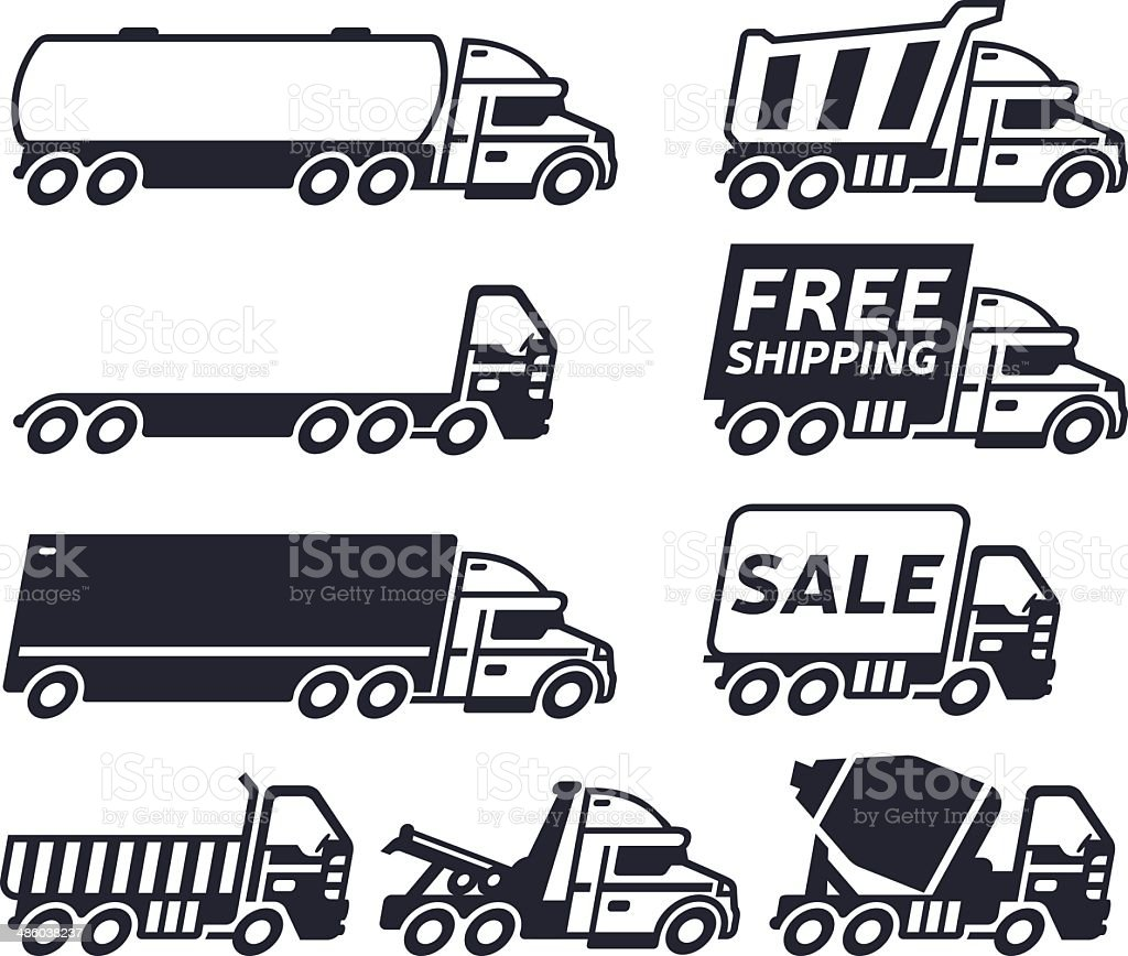 Trucks vector art illustration