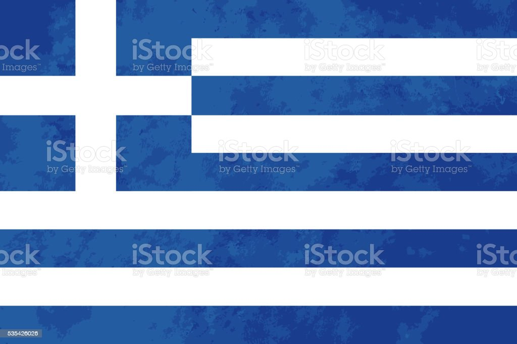 True proportions Greece flag with texture vector art illustration