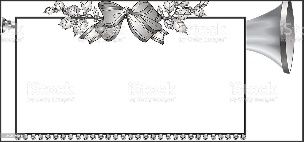 Trumpet Bow Frame royalty-free stock vector art