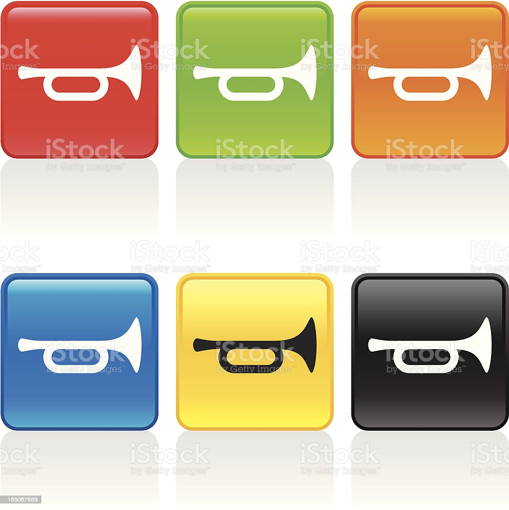 Trumpet Icon vector art illustration