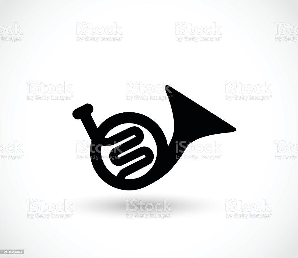 Trumpet icon vector illustration vector art illustration