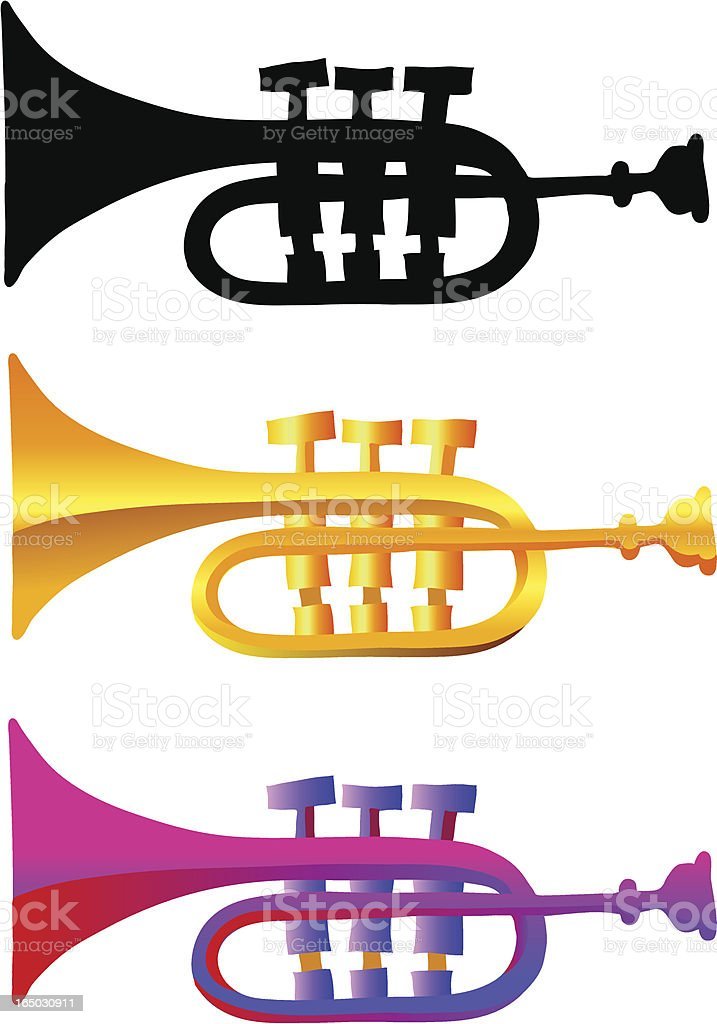 trumpet illustrations royalty-free stock vector art