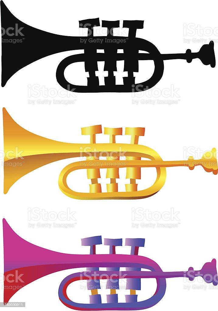 trumpet illustrations vector art illustration