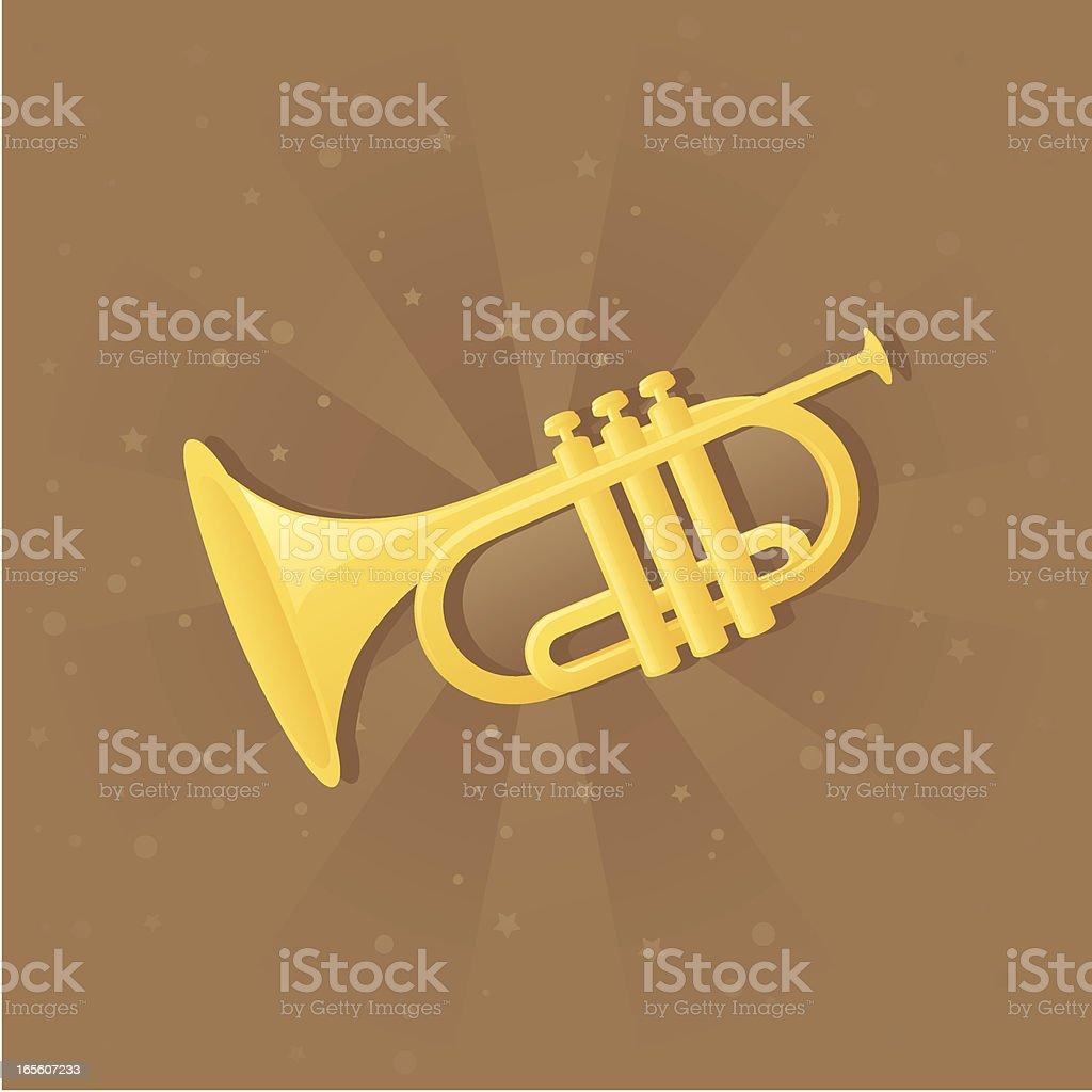 Trumpet - incl. jpeg royalty-free stock vector art
