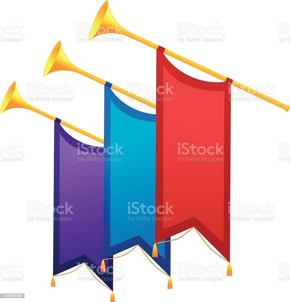 Trumpet Multiple vector art illustration