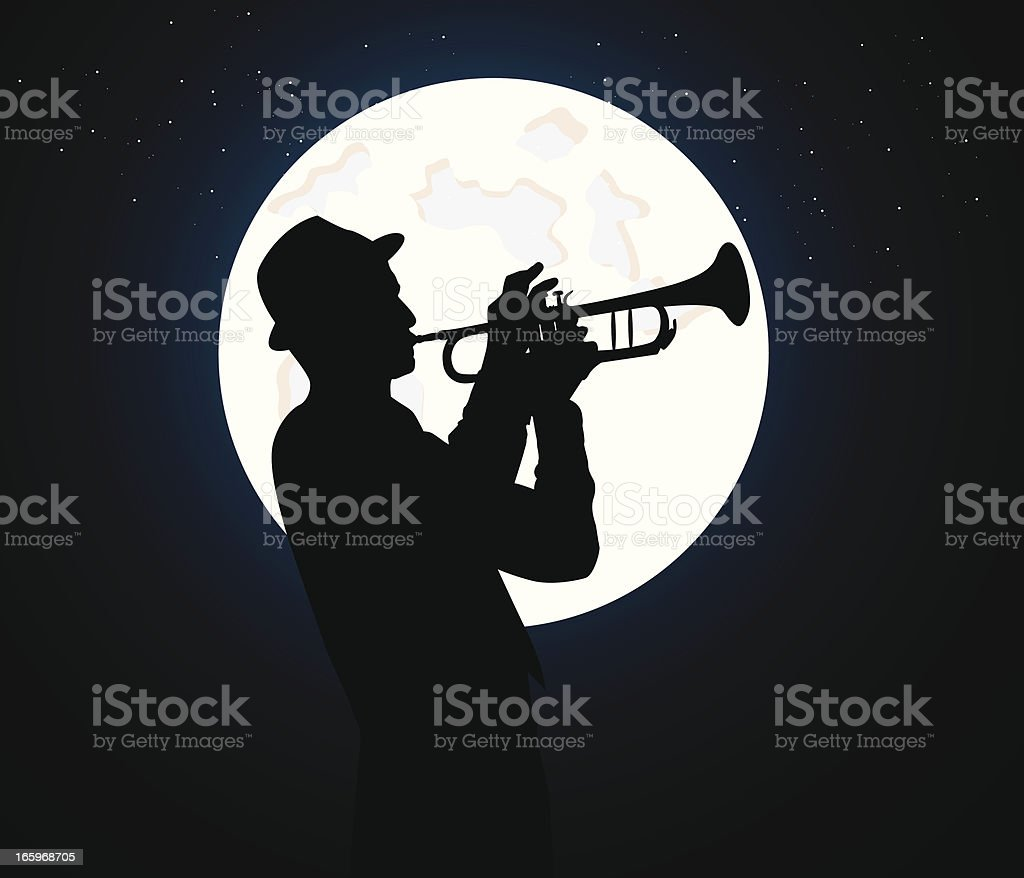 trumpet player royalty-free stock vector art