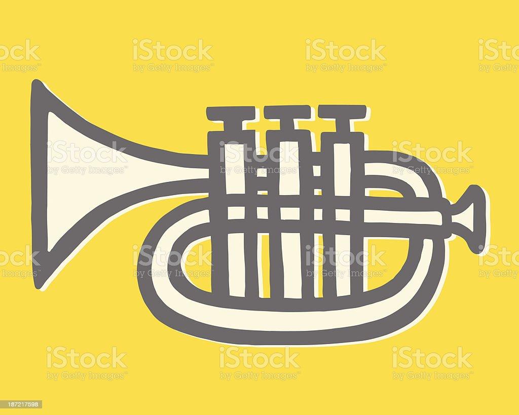 Trumpet vector art illustration