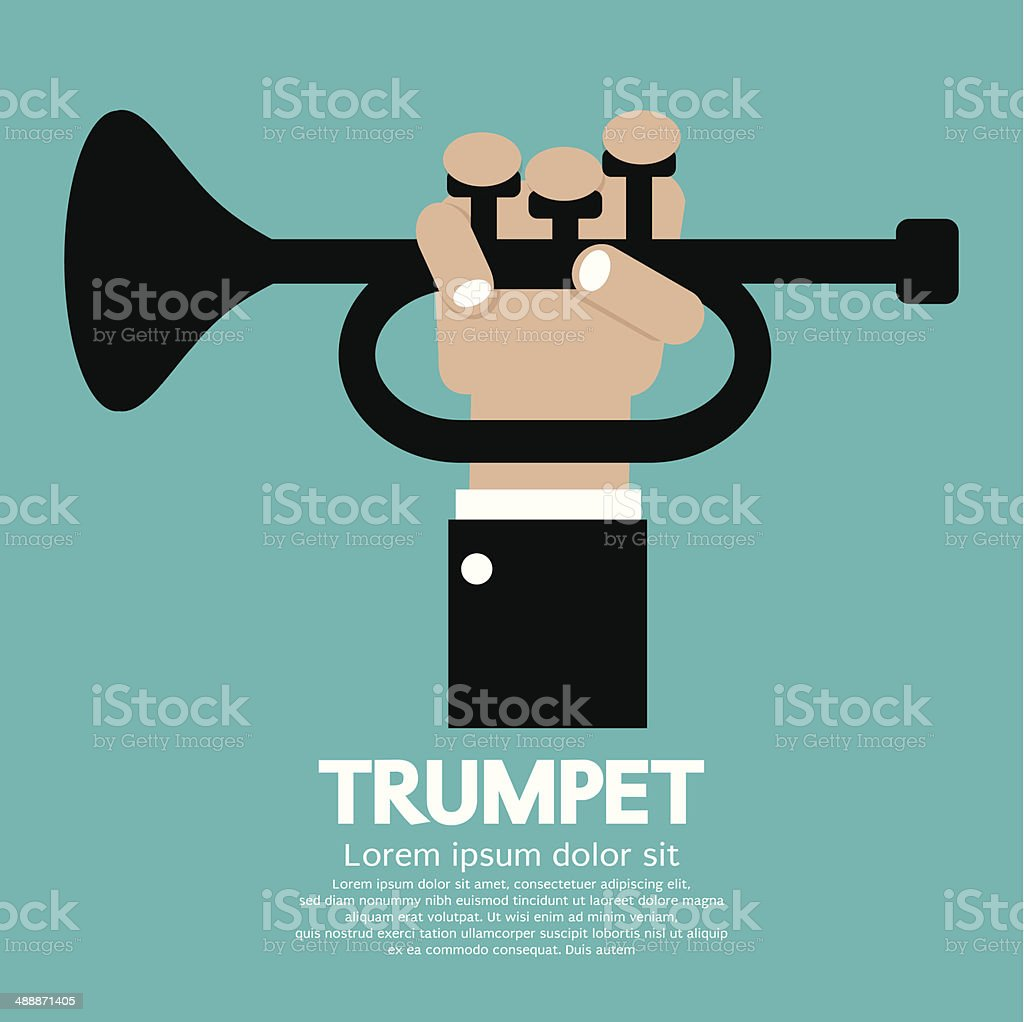 Trumpet vector art illustration