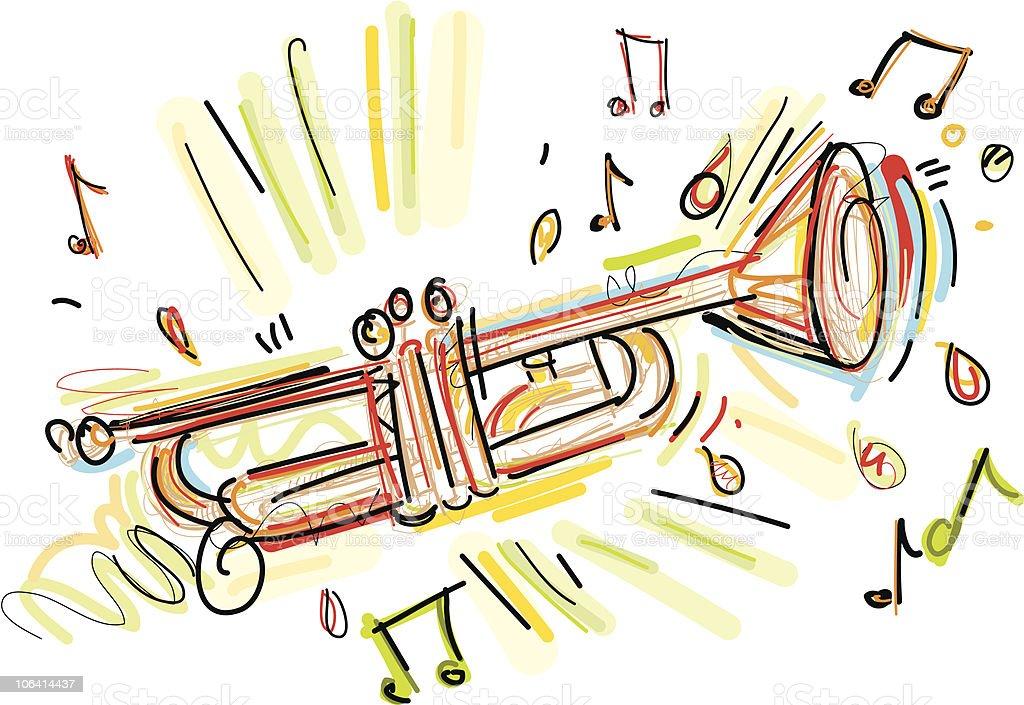 trumpet wildstyle royalty-free stock vector art
