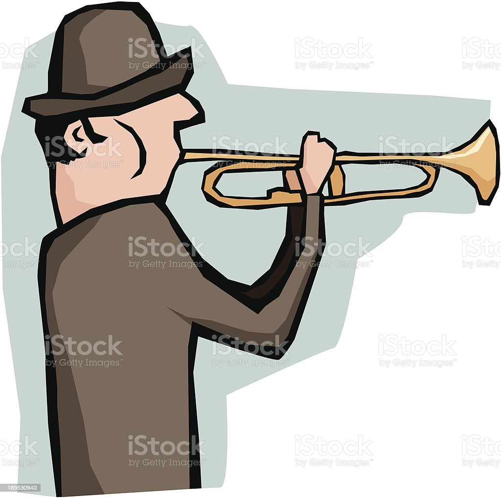 Trumpeter royalty-free stock vector art