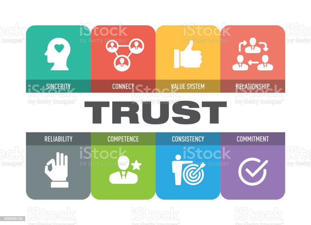 Trust Icon Set vector art illustration