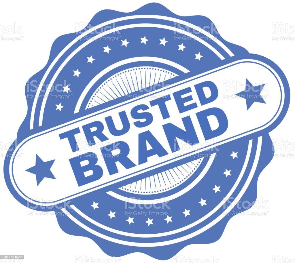 Trusted Brand Sticker vector art illustration