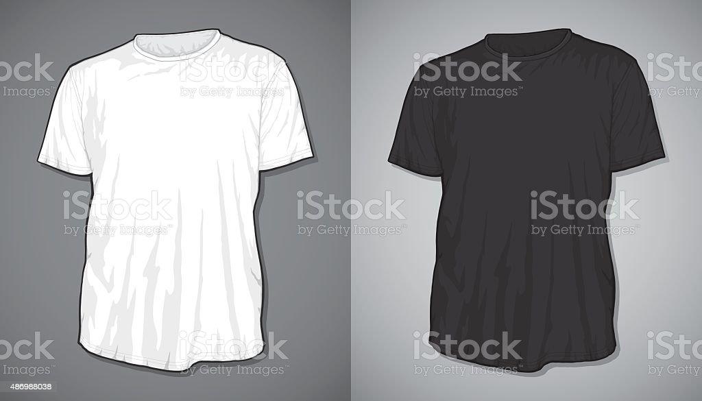 T-shirt blank vector art illustration