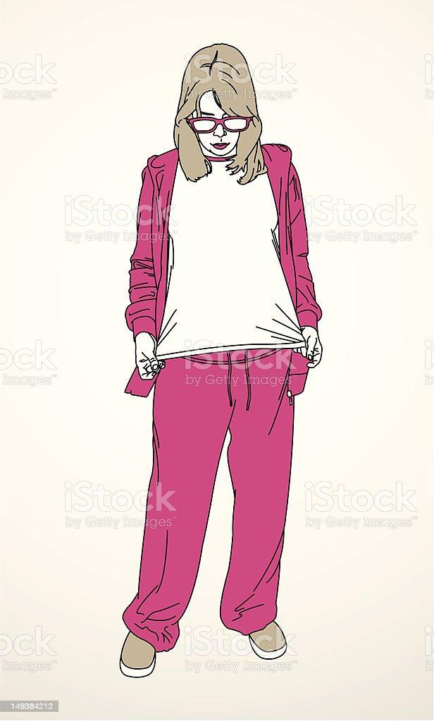 T-shirt Girl royalty-free stock vector art