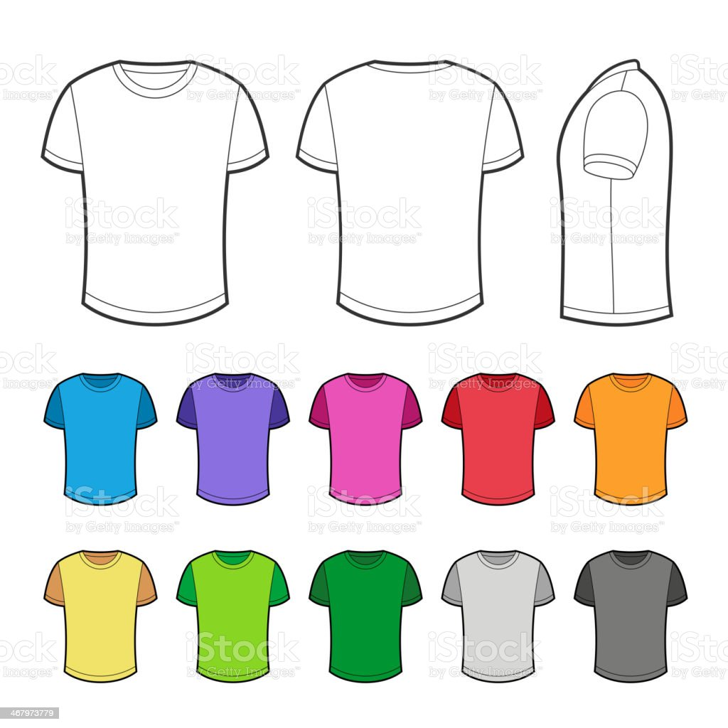T-shirt in various colors - 2. vector art illustration