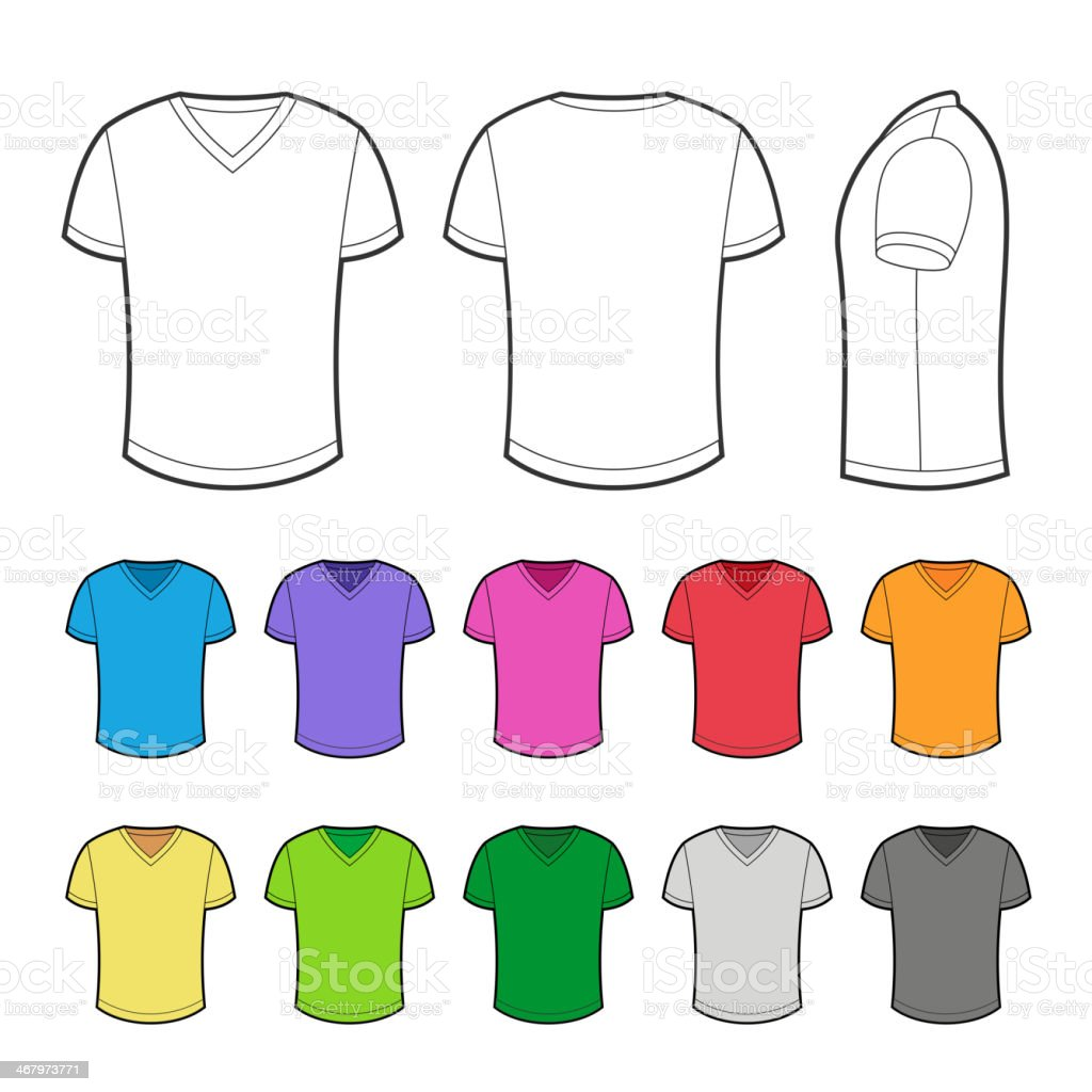 T-shirt in various colors. royalty-free stock vector art