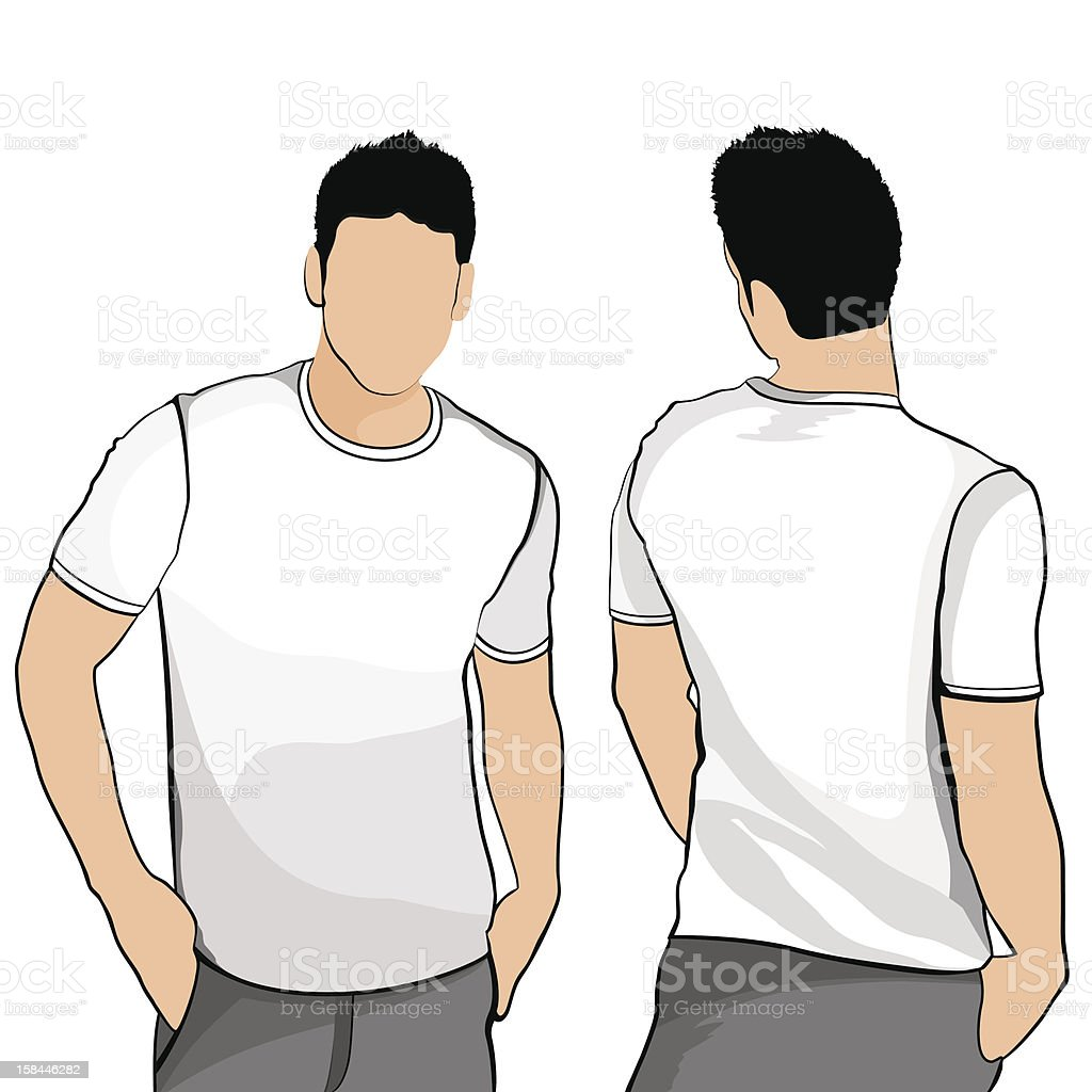 T-shirt men back and front. royalty-free stock vector art