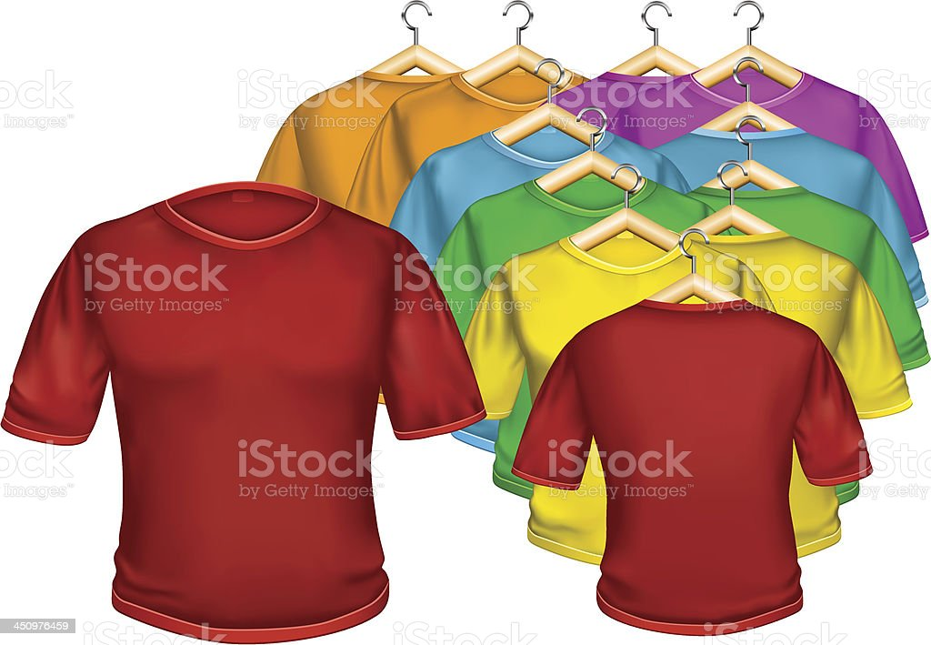T-shirt multicolored royalty-free stock vector art