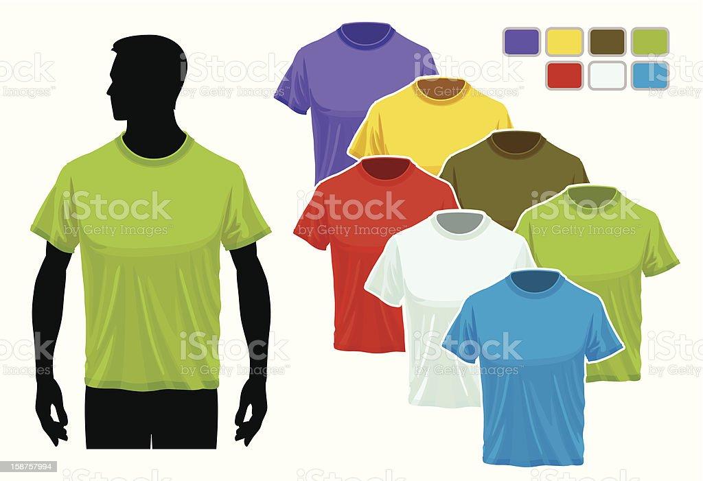 T-shirt template royalty-free stock vector art