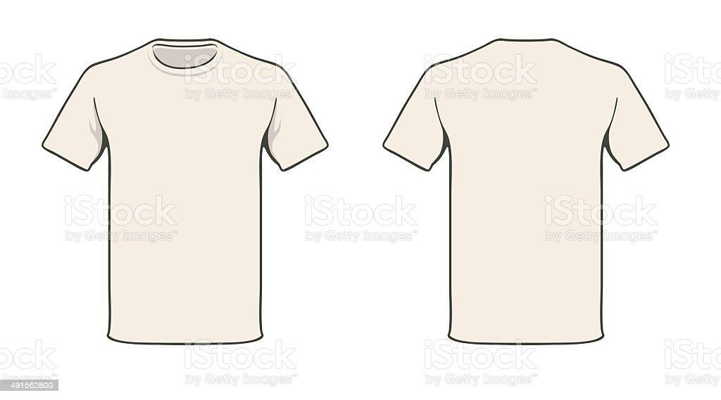 T-shirt template vector art illustration
