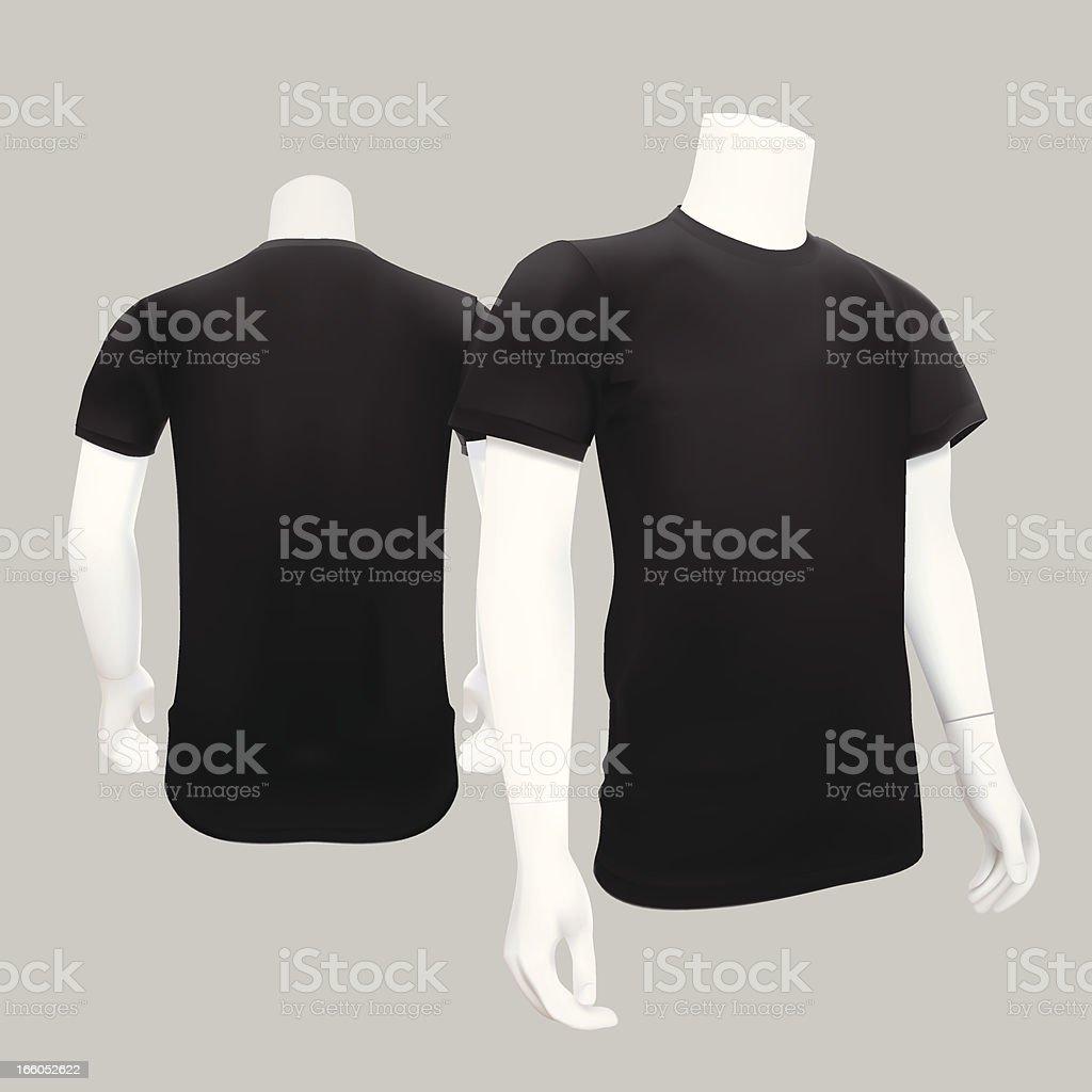 T-Shirt Template - Vector Illustration vector art illustration