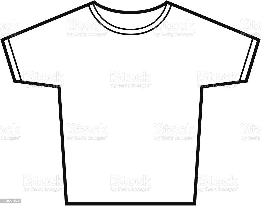 Image 23 of 45 blank tshirt template best template collection tshirt vector outline stock vector art 165027606 istock maxwellsz
