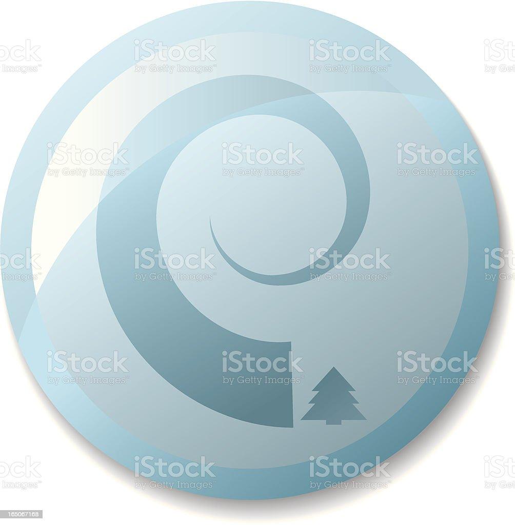 Tsunami Icon (Part of a Set) royalty-free stock vector art