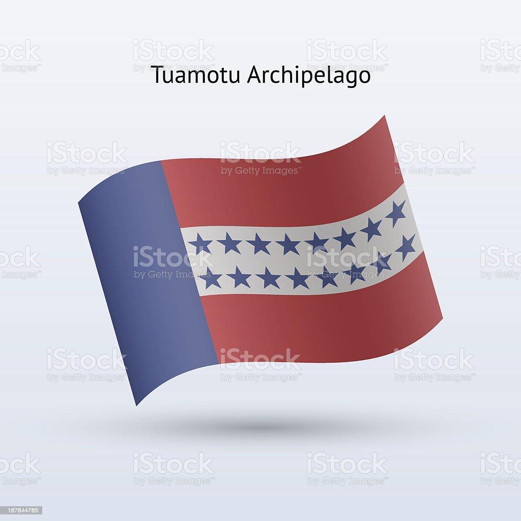 Tuamotu Archipelago Flag royalty-free stock vector art