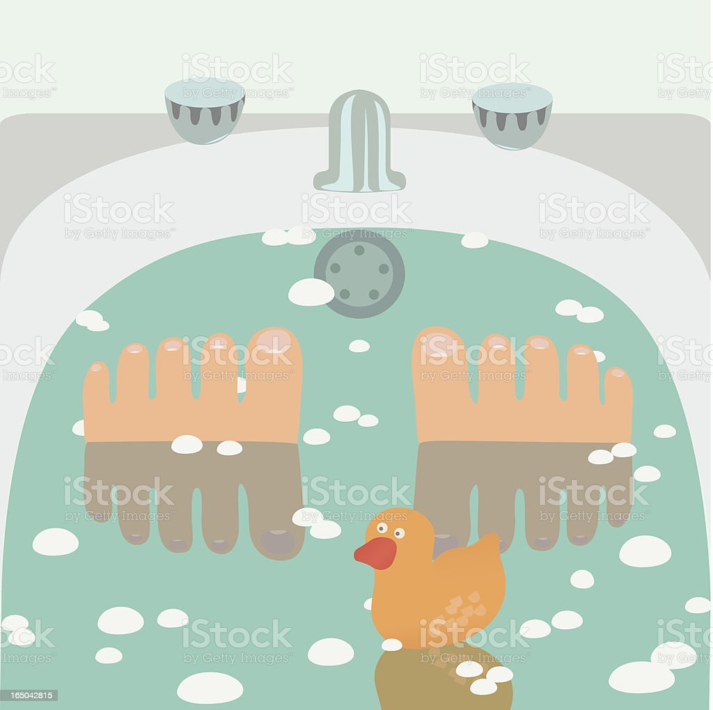 Tub Time royalty-free stock vector art