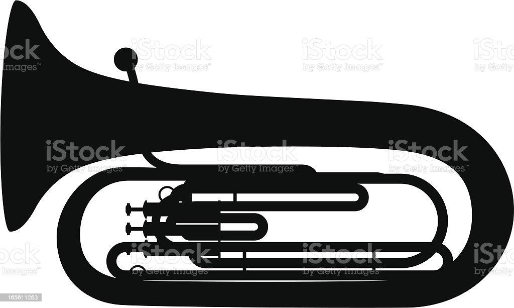 Tuba vector art illustration
