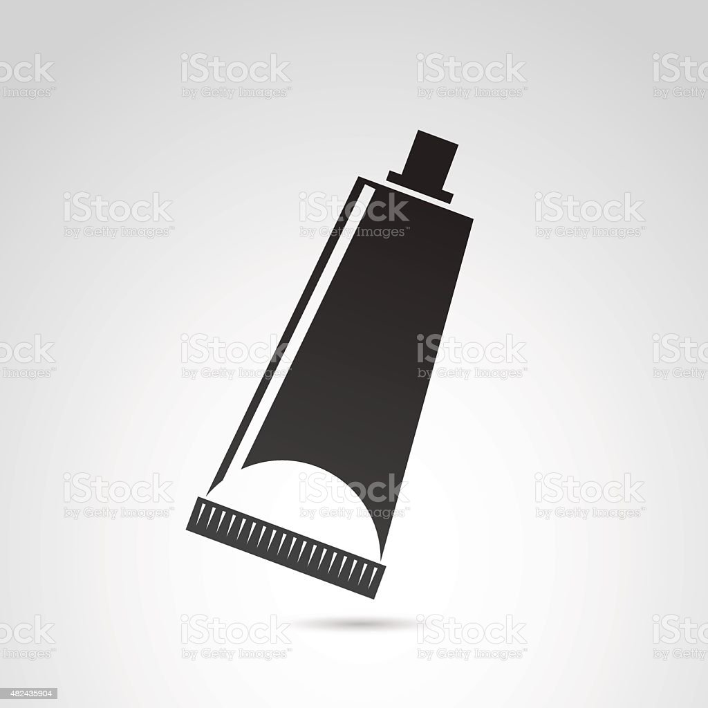 Tube, container, toothpaste, cream icon. vector art illustration