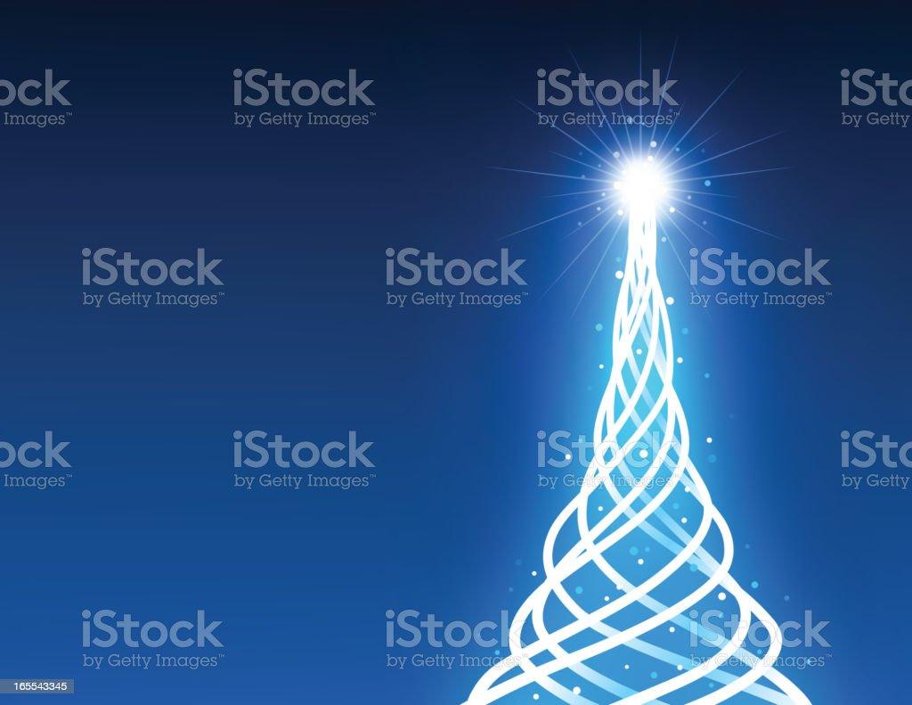 Tube light Christmas Tree royalty-free stock vector art